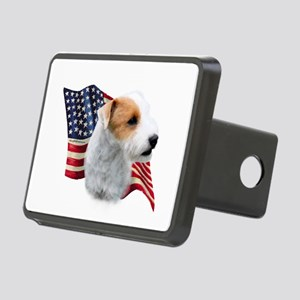 ParsonbrokenFlag Rectangular Hitch Cover
