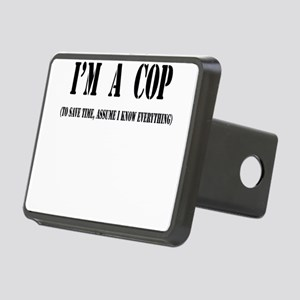 Im a cop black Rectangular Hitch Cover