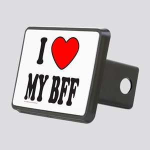 I LOVE MY BFF Rectangular Hitch Cover