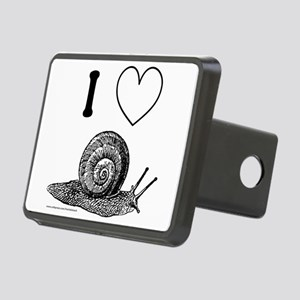 I HEART SNAILS Rectangular Hitch Cover