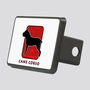 2-redsilhouette Rectangular Hitch Cover