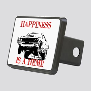 AFTMHappinessIsAHemi! Rectangular Hitch Cover