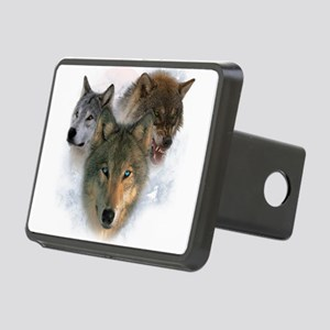 wolves Rectangular Hitch Cover