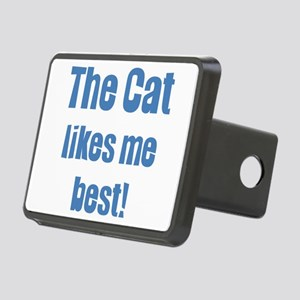 The cat likes me best Rectangular Hitch Cover