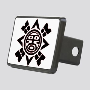 Black Haida Sun God Rectangular Hitch Cover