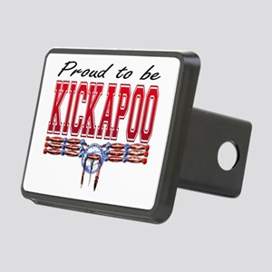 Proud to be Kickapoo Rectangular Hitch Cover