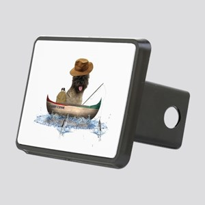 Cairn Terrier Fishing Rectangular Hitch Cover