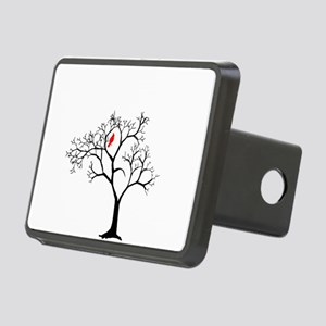 Cardinal in Snowy Tree Rectangular Hitch Cover