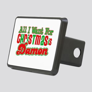 Vampire Damon Christmas Rectangular Hitch Cover