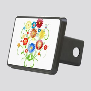 Floral bright pattern Rectangular Hitch Cover