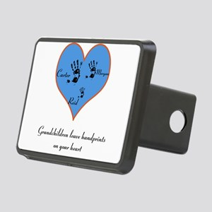 Personalized handprints Rectangular Hitch Cover