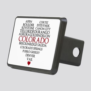 I LOVE COLORADO Rectangular Hitch Cover