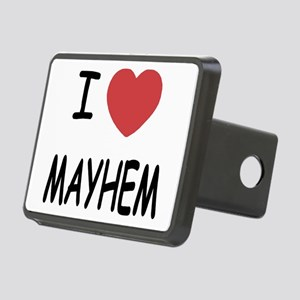I heart mayhem Rectangular Hitch Cover