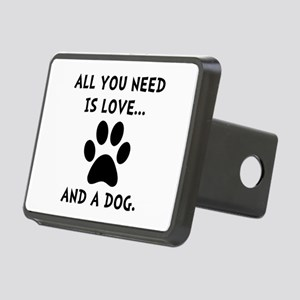 Need Love Dog Rectangular Hitch Cover