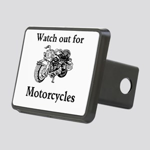Watch out for motorcycles Rectangular Hitch Cover