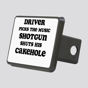 Driver Picks the Music 1 Rectangular Hitch Cover
