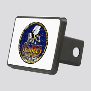US Navy Seabees Lava Glow Rectangular Hitch Cover