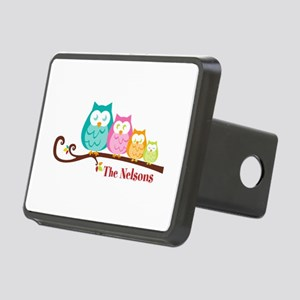 Custom owl family name Rectangular Hitch Cover