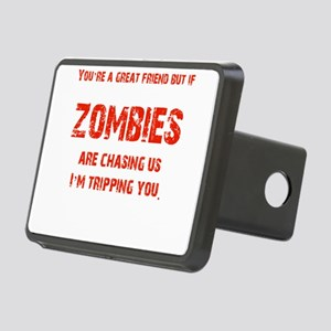 Zombies Chasing us! Rectangular Hitch Cover