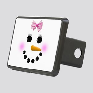 Snow Woman Rectangular Hitch Cover