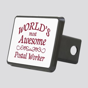 Awesome Postal Worker Rectangular Hitch Cover