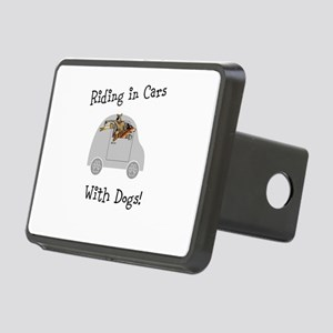 Traveling with dogs Rectangular Hitch Cover