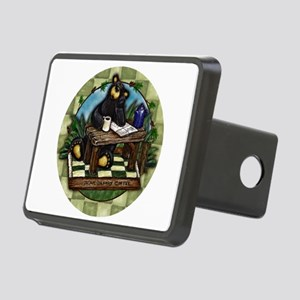 Coffee Drinking Bear Rectangular Hitch Cover