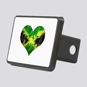 Jamaican heart Rectangular Hitch Cover