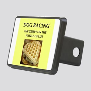 dog racing Rectangular Hitch Cover