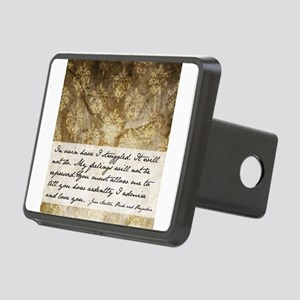 Pride and Prejudice Quote Rectangular Hitch Cover