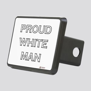 Proud White Man Rectangular Hitch Cover