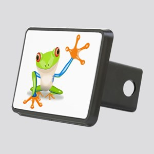 Green and Orange Frog Hitch Cover