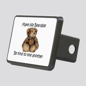 Make life bearable Rectangular Hitch Cover