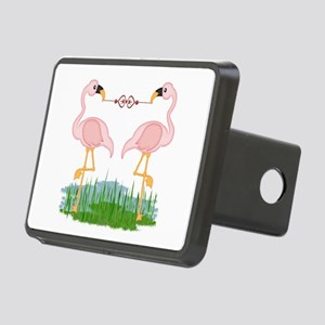 Flamingo Love Rectangular Hitch Cover