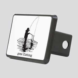 Personalized Gone Fishing Rectangular Hitch Cover