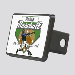 Personalized Home Run Time Rectangular Hitch Cover