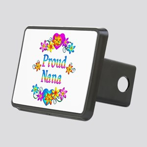 Proud Nana Flowers Rectangular Hitch Cover