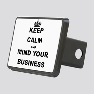KEEP CALM AND MIND YOUR BUSINESS Hitch Cover