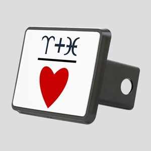 Aries + Pisces = Love Rectangular Hitch Cover