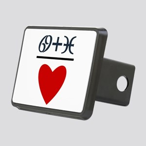 Cancer + Pisces = Love Rectangular Hitch Cover