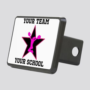 Custom pink and black cheerleading Hitch Cover