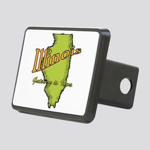 Illinois - Gateway To Iowa Rectangular Hitch Cover