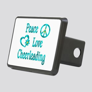 Peace Love Cheerleading Rectangular Hitch Cover