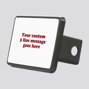 Three Line Custom Message Hitch Cover