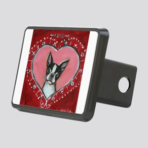 Boston Terrier Valentine xoxo Hitch Cover