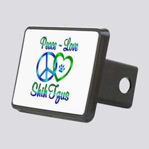 Peace Love Shih Tzus Rectangular Hitch Cover
