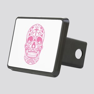 SugarSkull Pink-01 Hitch Cover