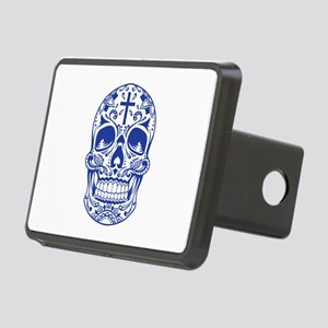 SugarSkull Blue-01 Hitch Cover