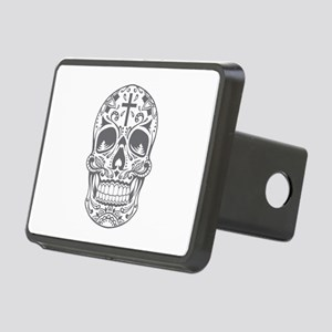 SugarSkull Grey-01 Hitch Cover