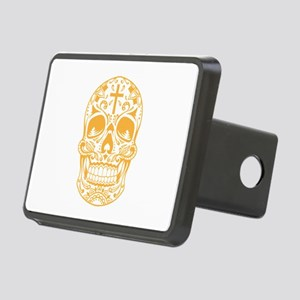 SugarSkull Yellow-01 Hitch Cover